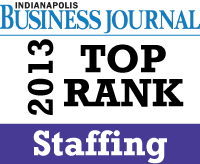 Indianapolis Business Journal Top Ranked Staffing Firm